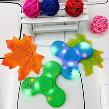 LED Light Bluetooth Speaker Music  Spinner Finger ABS EDC Hand Spinner Tri For Kids Autism ADHD Handspinner Hot Sale