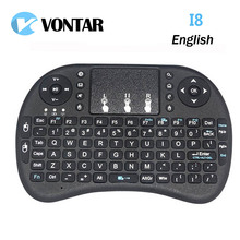 i8 mini keyboard English Li-ion battery Version i8+ Air Mouse Remote Control Touchpad Handheld for TV BOX Laptop Tablet