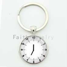 2016 latest fashion design minimalist clock key chain pop mens accessories romantic see you at time keychain handmade gift KC339