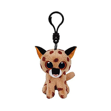 "Ty Beanie Boos Buckwheat the Brown Lynx Clip 3"" Keychain Plush Stuffed Animal Collectible Doll Toy"
