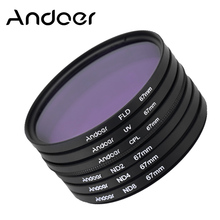 67mm Andoer UV+CPL+FLD+ND Photography Filter Kit Set for Nikon Canon Sony Pentax DSLRs Polarizing Neutral Density Camera Filter
