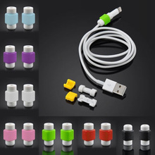 20 Pieces USB Cable Protector Sleeve D2 Mobile Phone Charger Cord Protector Silicone For IPhone Line Protective(China)