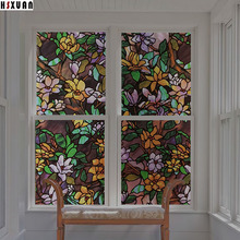 tint flower decorative window films 30x100cm pvc patterns privacy sunscreen waterproof glass window stickers Hsxuan brand 303102(China)