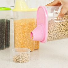 Large Plastic Food Storage Containers Kitchen Accessories Candy Container For Food Save Grain With Cover Kitchen Storage Box(China)