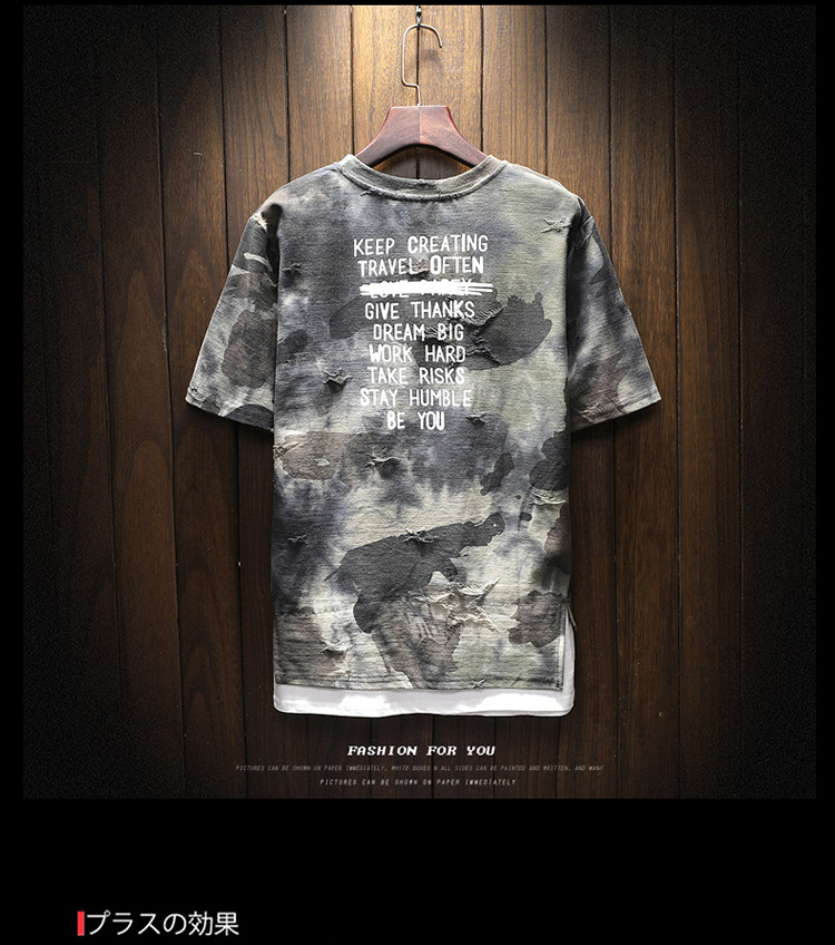 New arrival 2018 summer fashion letter print camouflage short sleeve t shirt for men men's military streetwear t-shirt DTX2 32 Online shopping Bangladesh