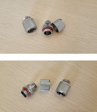 6pcs/ lot siliver hand compression fittings nozzle G1/4 thread suit 9.5X12.7mm tubing water cooling computer(China)