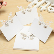 Brand New 20pcs  utterfly Laser Cut Place Hollow Out Name Table Card Baby Shower Wedding Favors Birthday Party Decoration