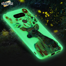 KISSCASE Luminous Case For LG G5Color Art Print Soft Silicon Rubber Soft TPU Phone Cases Back Cover Accessories For LG G5 Fundas
