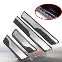 VEHEMO 4Pcs Automobile Door Sill Trim Strip Cover Welcome Pedal Car Styling Paint Protector Guard For Honda CRV Stainless Steel(China)