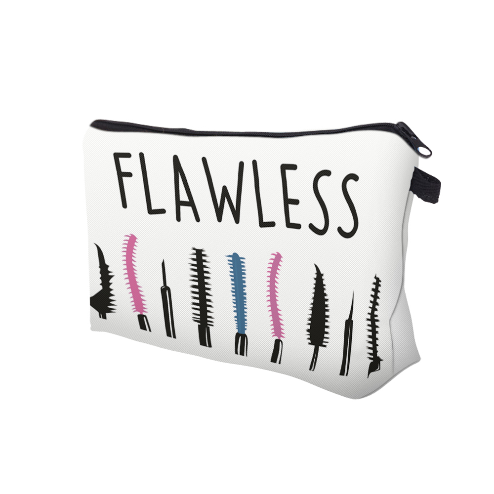 """I Like My Eyelashes"" Printed Makeup Bag Organizer 8"