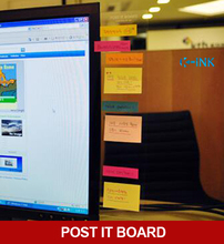 Useful transparent post it board for post it notes , monitor memo board , put your sticky notes on it!(China)