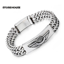 5Pcs/Lot Men's Motor Bike Motorcycle Chain Bracelet Bangle Stainless Steel For Delicate Cool Men Jewelry