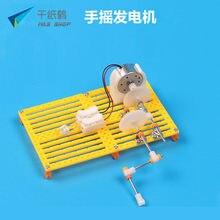 b12bb7f6513 DIY Gerador de Manivela Montar Modelo de Plástico Kits de Ciência Brinquedos  Experimento de Física Educacional Criativo Crianças.