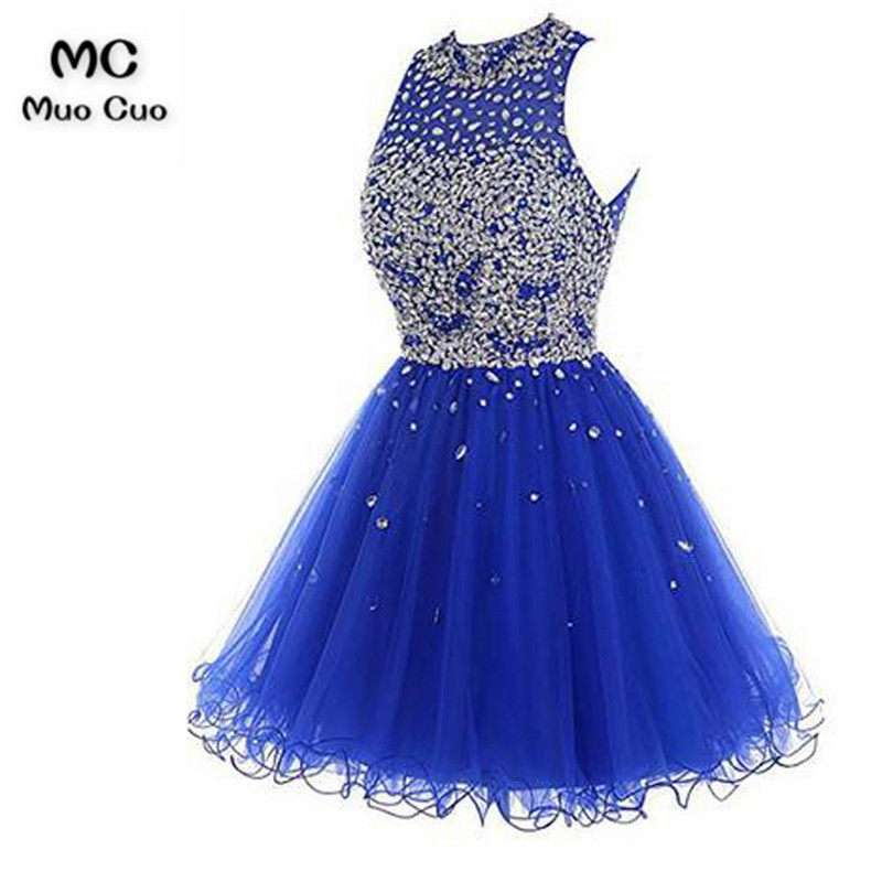 Short Tulle Beading Homecoming Dress Prom Gown65