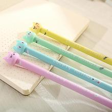 4pcs/lot 0.5mm Lovely Fish Cat Gel Ink Pen Promotional Gift Stationery School & Office Supply FOD(China)