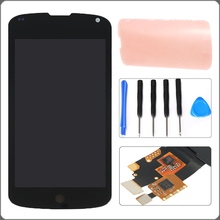 "4.5"" Black For LG Google Nexus 4 E960 LCD Display Touch Screen Digitizer Full Assembly+Adhesive+Tools Free Shipping+Tracking No"
