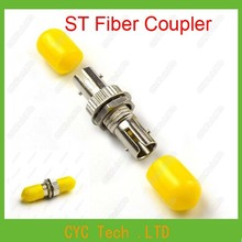 20pcs ST Fiber Coupler, ST Fiber Optic Connectors/ Adapter ,ST Yellow Hat Adapter Flange for Telecommunication