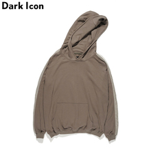 DARKICON Solid Color Plain Hoodies Men 2017 Autumn Streetwear Men's Hoodie Mens Sweatshirts Red Khaki Blacks(China)