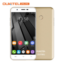 Original Oukitel U7 Plus MTK6737 Quad Core 4G LTE Smartphone 5.5Inch HD 2GB RAM 16GB ROM 8MP GPS Fingerprint ID Dual Sim Phone(China)