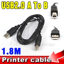 1.8M USB 2.0 A to B Male Adapter Data Cable for Epson Canon Sharp HP Printer Scanner Extension Wire Cord