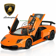 2 Colors 1:24 Aventador LP Murcielago Metal Alloy Diecast Scale Model Car Toy Miniature Sound and Light Boys Free Shipping