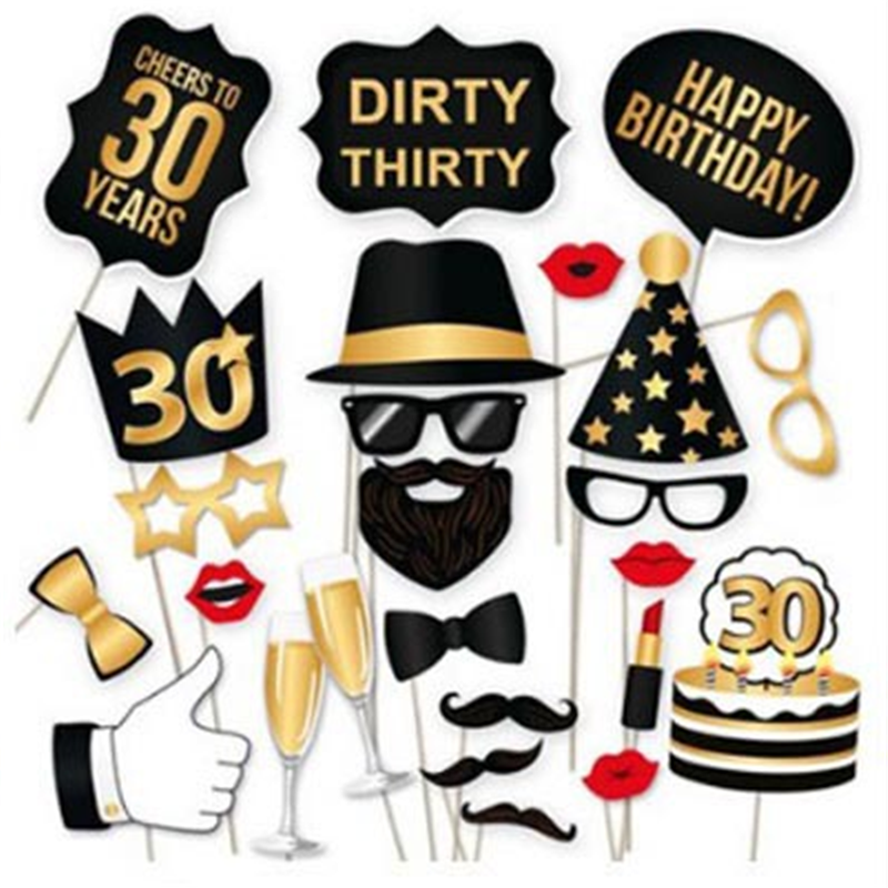 Detail Feedback Questions About Birthday Party Decorations Adult 30 40 50 Years Old Happy Photo Booth Bachelorette Decoration