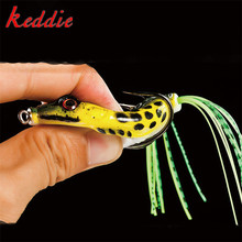 1PC 5.5cm 10g Frog Lure Fishing Lures Treble Hooks Top water Ray Frog Artificial Minnow Crank Strong Artificial Soft Bait