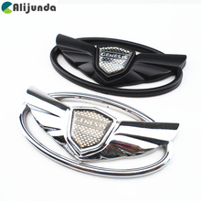 Car styling accessories chrome emblem badge surface stickers For Hyundai sports car wings(China)