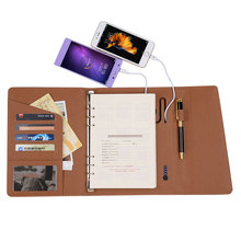 ONLVAN Fashion Notebook with 6000mAh Creative Desgin Business Notebook with Power Bank Office Supply Supper Gift Customized