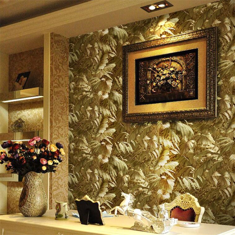 Beibehang Gold 3D relief European luxury KTV background wallpaper luxury golden bedroom living room video wall 3d wallpaper roll<br>