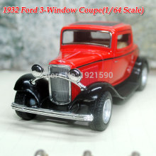 Brand New KT 1/32 Scale USA 1932 Ford 3-Window Coupe Vintage Diecast Metal Pull Back Car Model Toy For Gift/Children