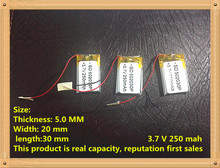502030 polymer lithium battery manufacturer direct 250mAh lithium polymer battery