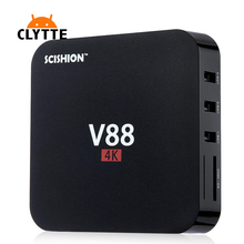 10Pcs Android 6.0 TV Box 1GB RAM 8GB ROM 4K Resolution 3D Movie Support Android TV smart media player Quad-Core CPU V88/V88Plus