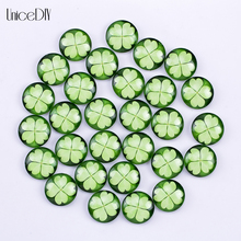 AD1301137 10/16/18mm Glass Cabochon Hot Sale DIY Findings Glass Clover ladybug Symbol Design Glass Cabochon(China)