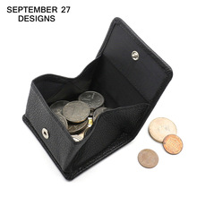Mini coin purses luxury brand women wallet Square style genuine leather small change purse men Coin Pocket Hasp Money Bag(China)
