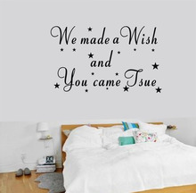 we made a wish Wall Sticker kids room decoration wallpaper removable Vinyl Decals quotes stickers home decor star poster