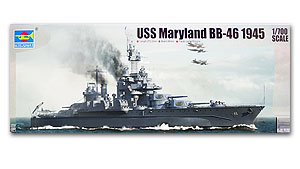"Trumpeter 1/700 scale model 05770 US Navy Corralado BB-46 ""Maryland"" battleship(China (Mainland))"