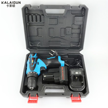 KALAIDUN 25V Electric Drill Mobile Power Tools Electric Screwdriver Lithium Battery Cordless Impact Drill With Extra Toolbox(China)