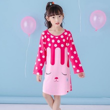Buy Girls Nightdress New 2018 Spring Fashion Princess Cartoon Dresses Kids Sleep Dress Cotton Children Nightgowns Lovely Girl Gift for $8.89 in AliExpress store