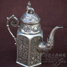 Antique miscellaneous bronze sculpture home furnishings pure hand - made copper pots teapot