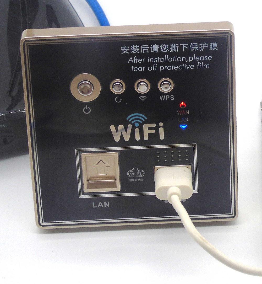90-240VAC wall embedded wireless ap router with USB charging<br>