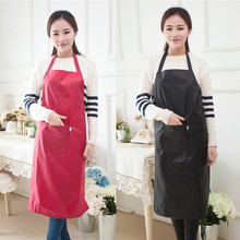 Waterproof And Oil Resistant Kitchen Sleeveless Apron  Home Cleaning Work Clothes   Red/Black