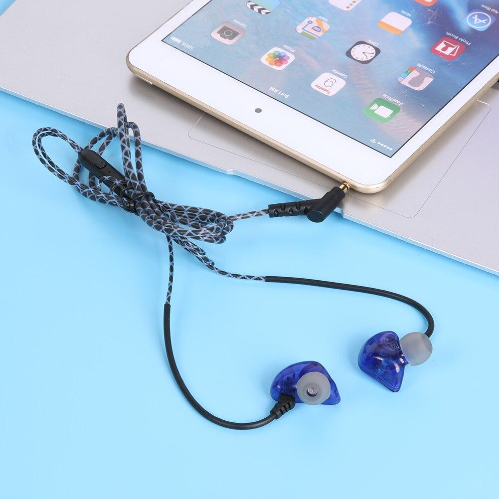 Universal 3.5mm Earphone, 1.2m Wired Waterproof Sweatproof Super Bass Earpiece with Mic Volumn Control Earphone for Mobile Phone