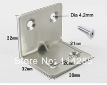10pcs Furniture fittings Right Angle Stainless Steel Bracket 1.5mm Thickness(China)