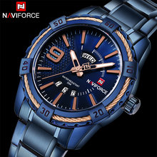 Buy Top Original Luxury Brand NAVIFORCE Men Fashion Sport Quartz Watches Men's Military Full Steel Waterproof Analog Date Wristwatch for $18.86 in AliExpress store