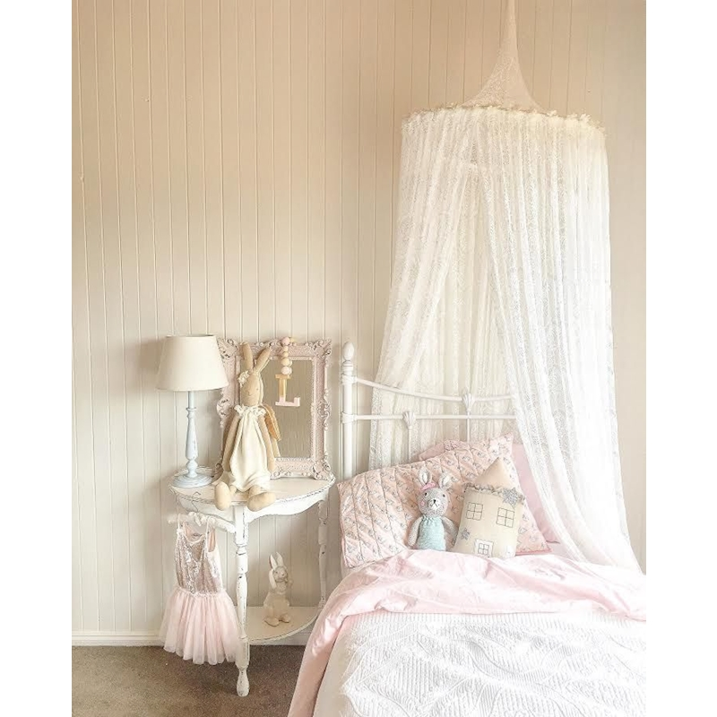 Newborn Mosquito Net Baby Sweet Lace Crib Net Infant Bed Netting Round Dome Bed Canopy Bedding Mosquito Net Holder High Quality<br>