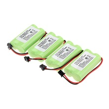New arrival 4 PCS 2.4V 1400mAh Cordless Phone Battery For Uniden BT-1007 BT1007 BT1015-green(China)