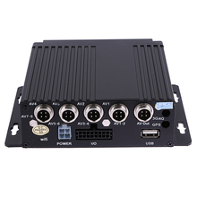 SW-0001A Realtime Video/Audio Recorder SD Card Auto Car Bus Mobile DVR 4CH Input Digital Video Recorder up to 128GB
