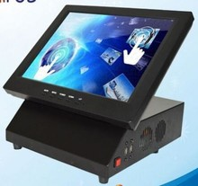 free shipping 12 inch POS machine all in one touch screen pos system restuarant cash register with windows7 Beta