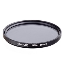 RISE(UK) 58 mm Neutral Density ND4 Filter FOR ALL Camera lens NEW free shipping(China)